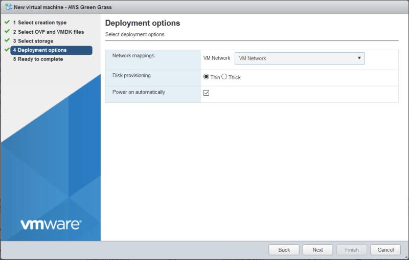 AWS Greengrass on VMware vSphere - Select Network