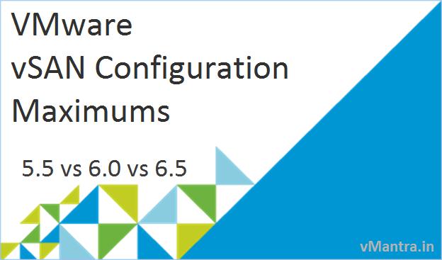 VMware vSAN Configuration Maximums