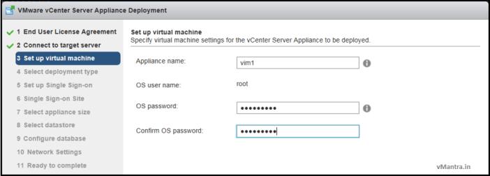 Install VCSA - VM