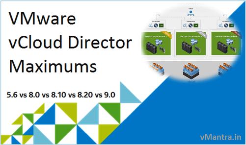 VMware vCloud Director Configuration Maximums