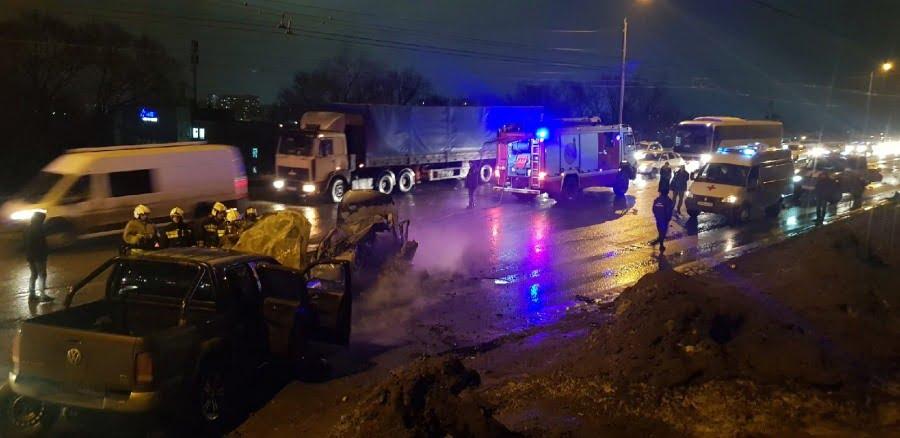 В Балакове водитель «Ниссана» сгорел заживо после ДТП