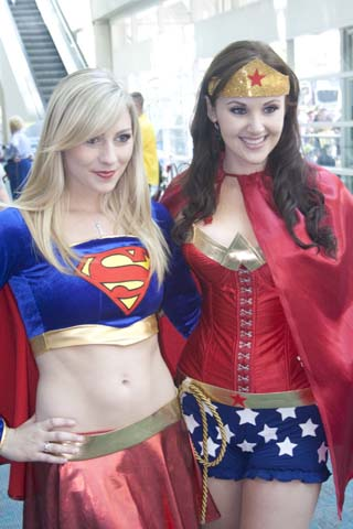 Super Girl & Wonder Woman
