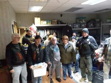 Erie Veterans Receive Thanksgiving Baskets -3