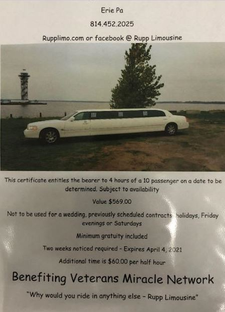 4 Hour use of 10-passenger Limo