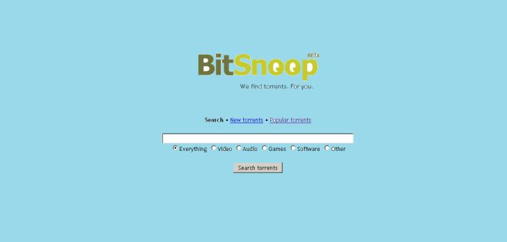 bitsnoop is Best Extratorrent Alternatives