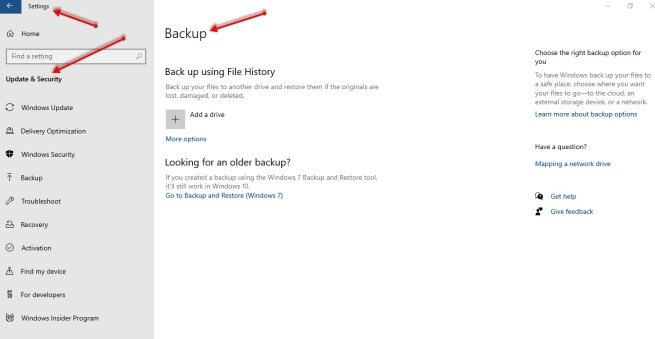 How to Backup Files on Windows 10
