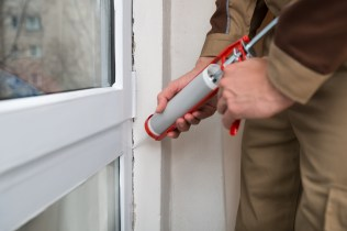 Caulking windows is a great way to keep your home insulated.