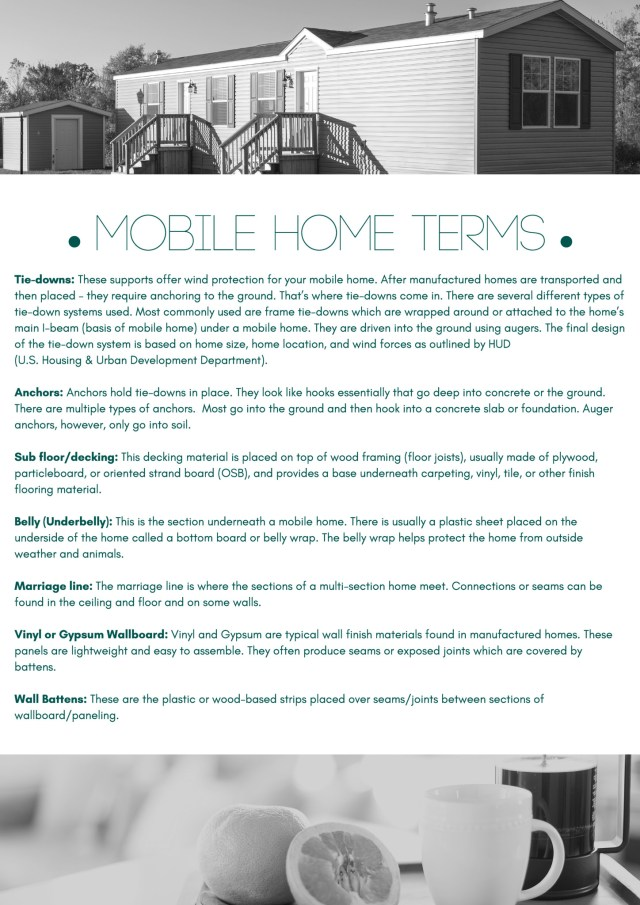 Mobile Home Term Sheet 2018 Updated 33