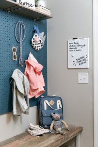 Pegboards are are a practical addition!