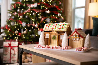 Make a gingerbread house with the whole family!
