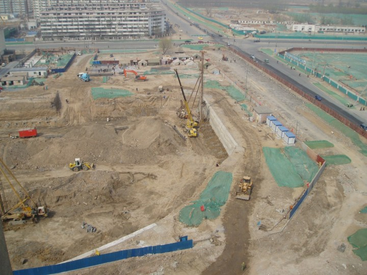 Part of the Olympic Park site, Beijing 2005
