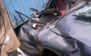*File photo: Wreckage from a car accident