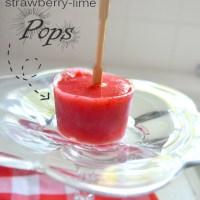 Watermelon Strawberry-Lime Pops