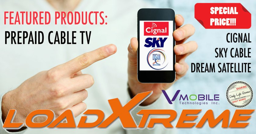 VMobile sells Cable TV Prepaid Load