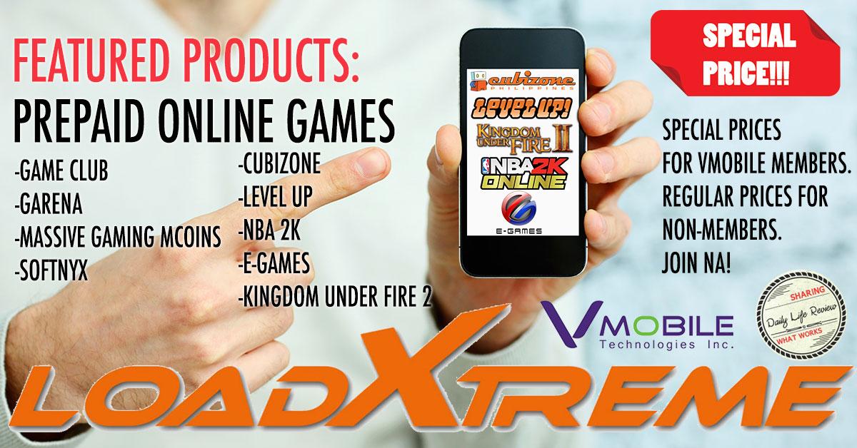 VMobile Online Games Prepaid Load