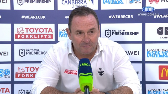 NRL Presser: Ricky Stuart steams after the Warriors beat the Raiders