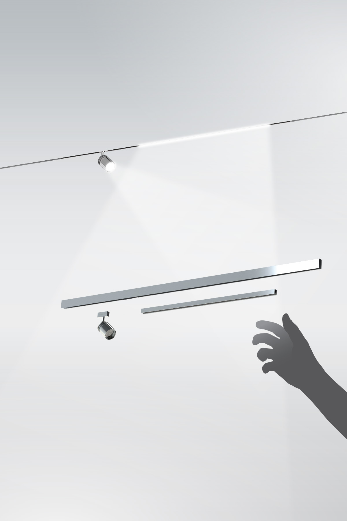 the smallest track lighting system in