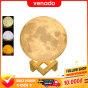 Đèn ngủ mặt trăng Moon Lamp 3D cảm biến đổi màu loại 16 màu và 3 màu Size 15cm - Venado