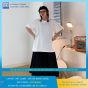 AOTHUNAZ - Áo thun nữ tay lỡ ( lửng ) màu trắng đơn giản cá tính - Vải cotton thoáng mát