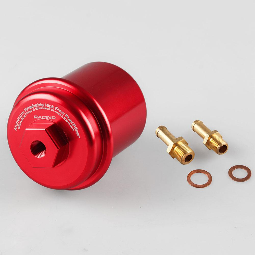 hight resolution of star mall aluminum alloy oil filters dirt cleaner car inline oil gas fuel filter for honda