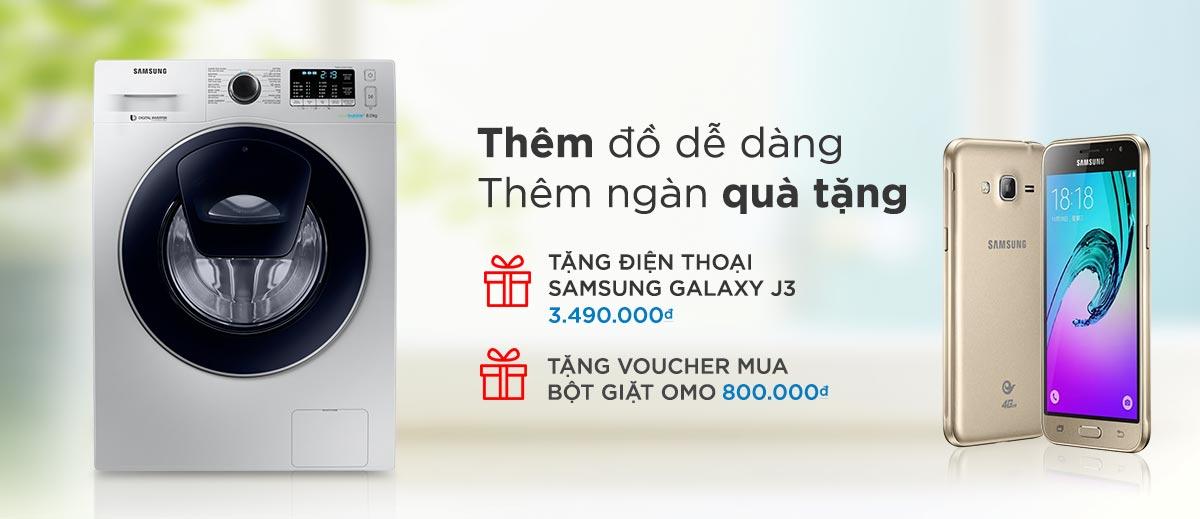 Khuyến mãi máy giặt Samsung tại Lazada