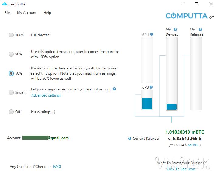 huong dan dao bitcoin voi computta 6 - Hướng dẫn đào Bitcoin với Computta chỉ cần treo máy kiếm tiền