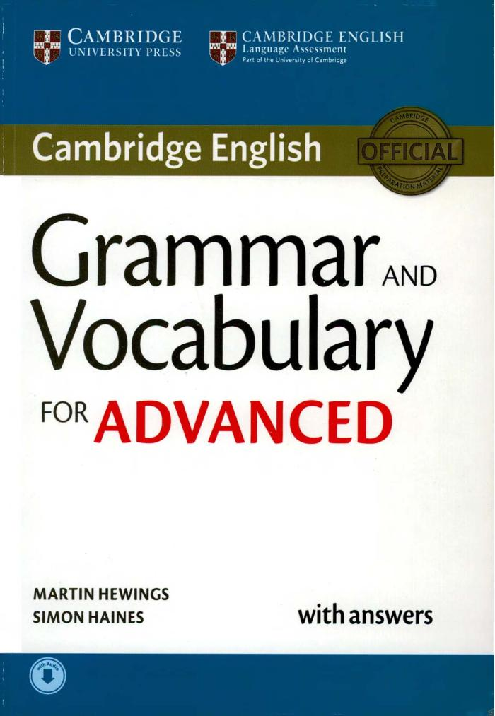 [Sách] CAMBRIDGE GRAMMAR AND VOCABULARY FOR ADVANCED 2015