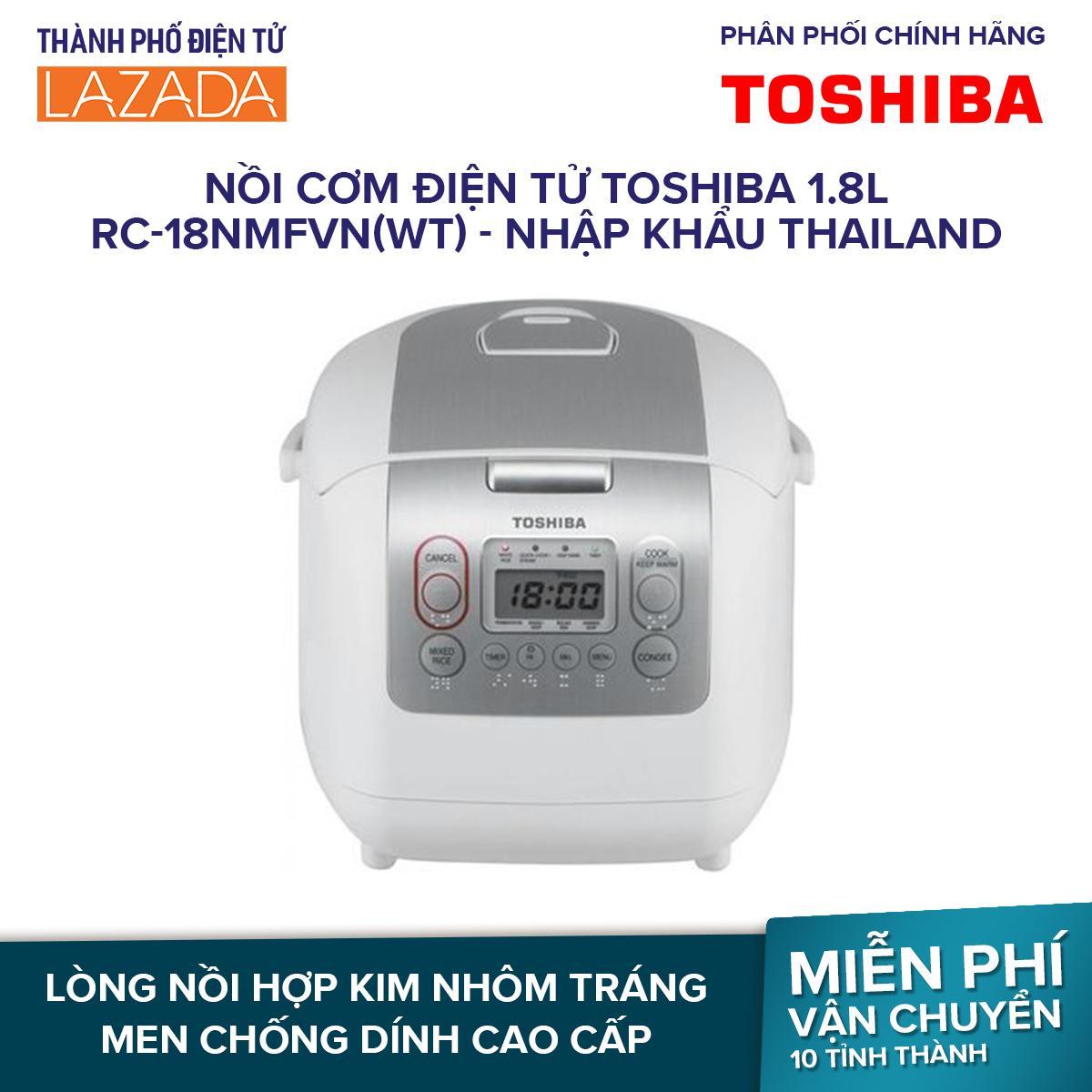 Nồi cơm điện tử Toshiba 1.8L RC-18NMFVN(WT)