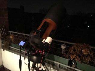 Setup Olympus M10 am Teleskop