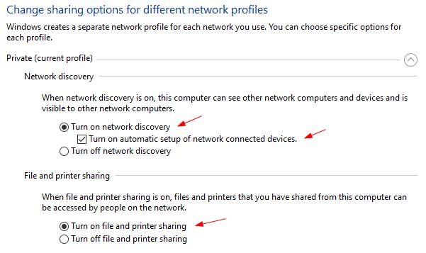 Windows 10 không tìm thấy trong Network