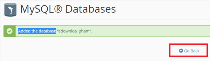 tạo database cpanel