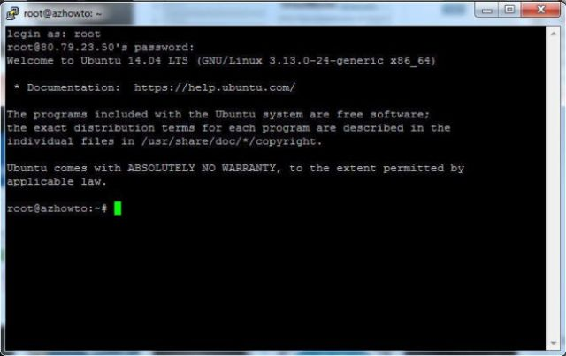 đăng nhập vps linux
