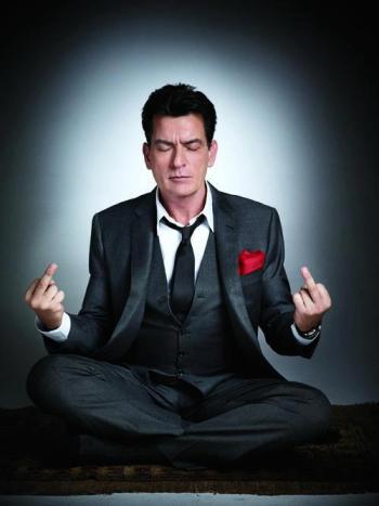 Charlie-Sheen meditattion