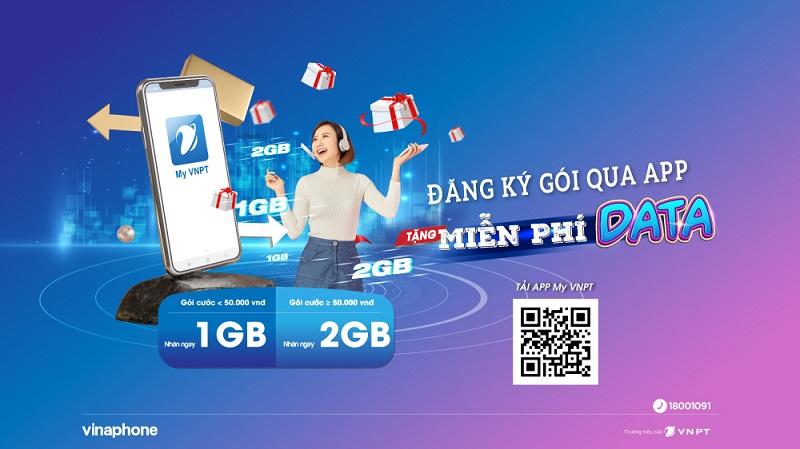 khuyến mãi 2Gb data vnptg My VNPT