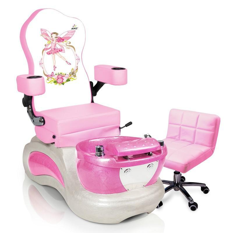 child pedicure chair floral print accent chairs vnt nail supply pink pixie kids spa