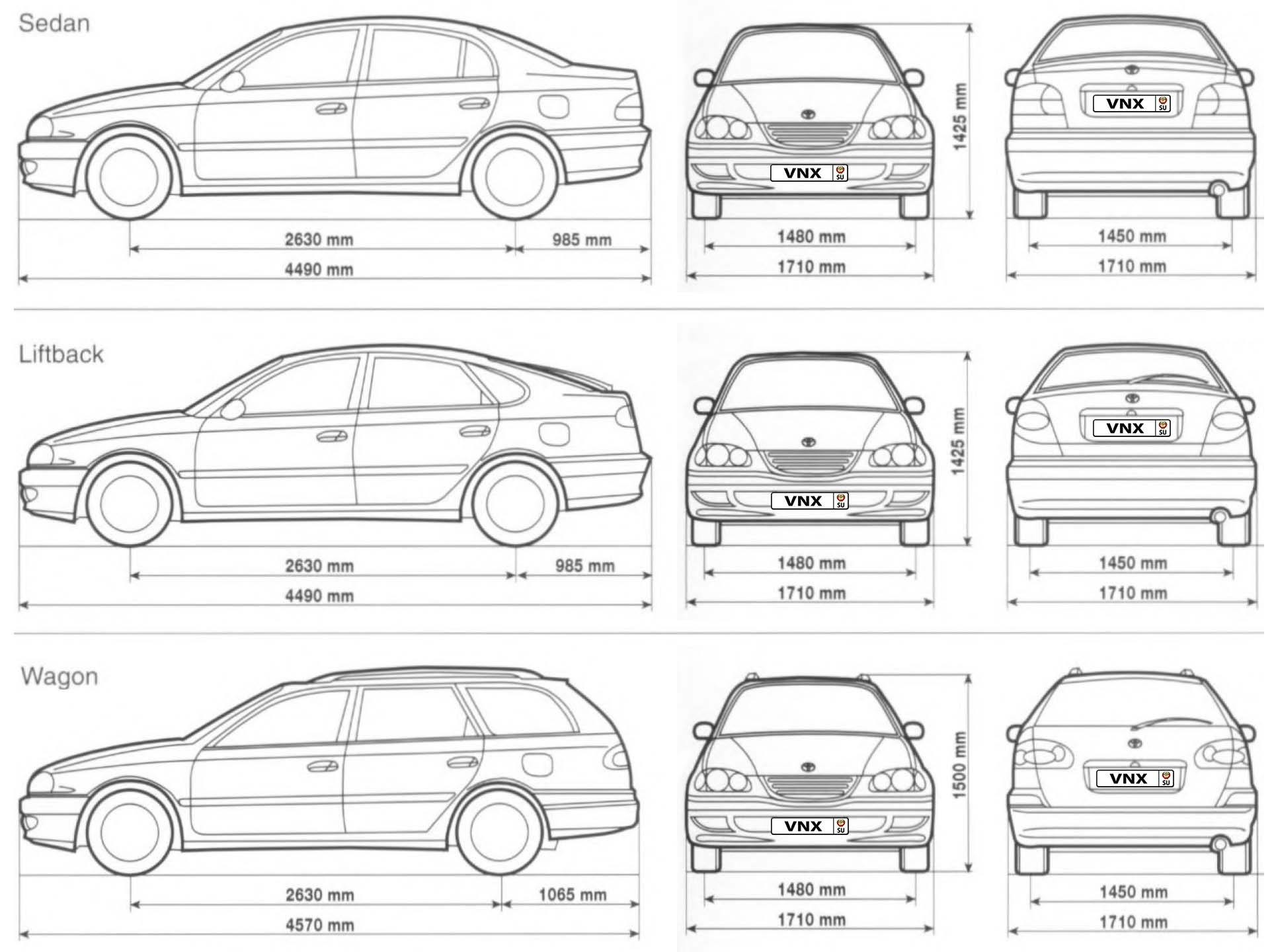 Toyota Avensis Corona 97 03 Electrical Wiring Diagrams