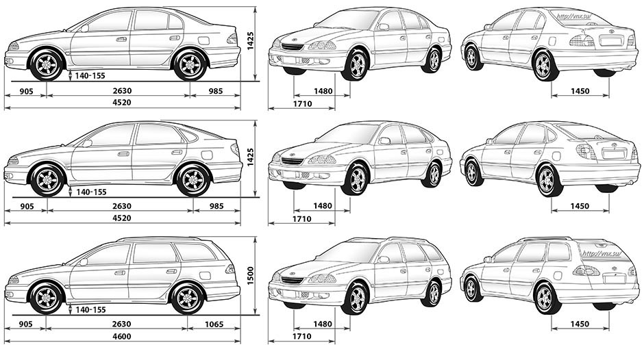 Toyota Avensis 1997-2003 Owners Manual