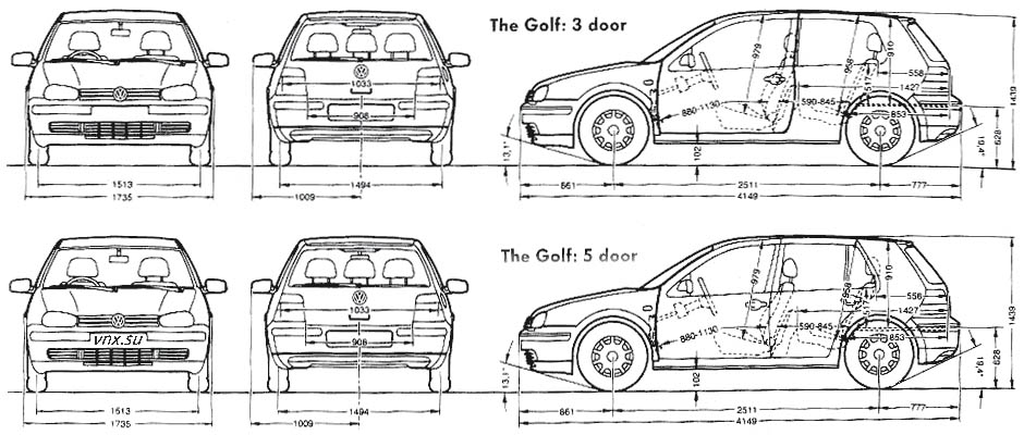 VW Golf GTI, Jetta 1999-2004, Jetta Wagon 2001-2004, R32
