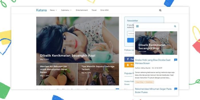 Katana Responsive Premium Blogger Template