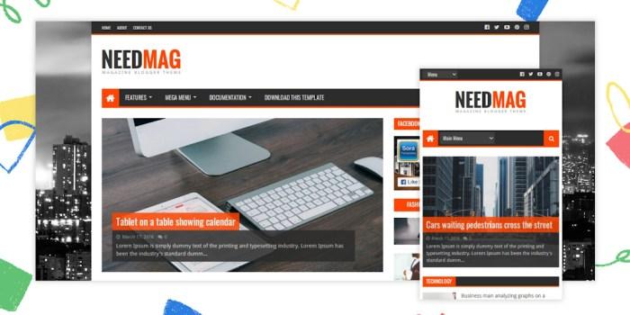 NeedMag Premium Blogger Template – NeedMag v2.0 Blogger Template