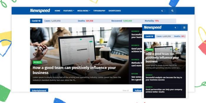 Newspeed Premium Blogger Template – Newspeed v1.2.0 News Website Blogger Template