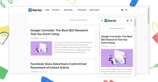 Starter Responsive Blogger Template