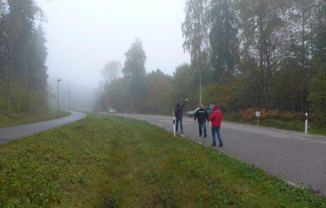 Ilm oli üsna külm ja udune, kuid sõita oli täitsa mõnus.