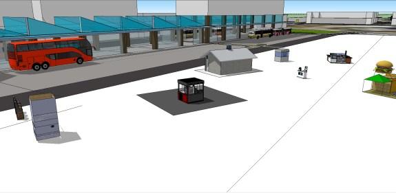 Manukau Interchange BR Version MK 5 MBTI 15 under way Kiosks belong to their owners