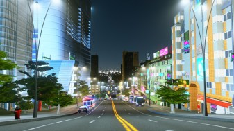 Bus lanes through the City Centre