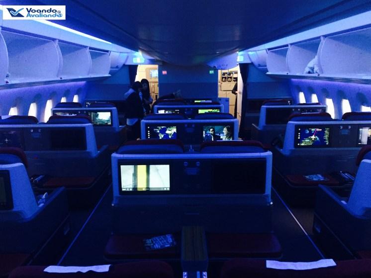 A350 - Cabine Visão Geral - Noite