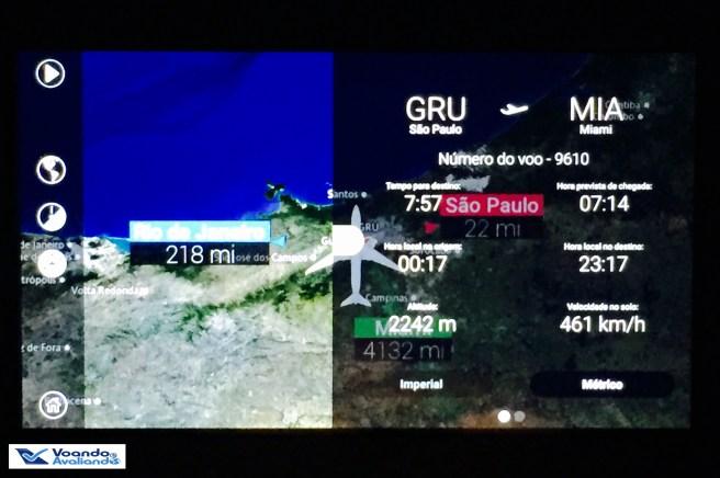 Dados do voo + Mapa