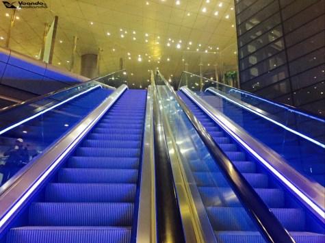 Sala VIP Qatar - Escada Rolante