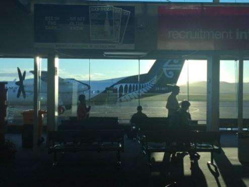 Visão do pátio de aeronaves