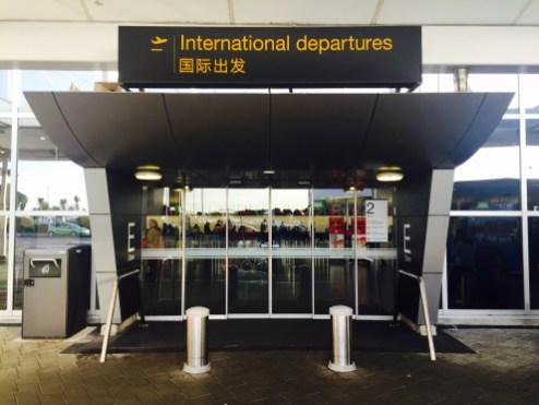 Aeroporto AKL - parte externa